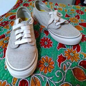Van's women's 7 tan beige gray